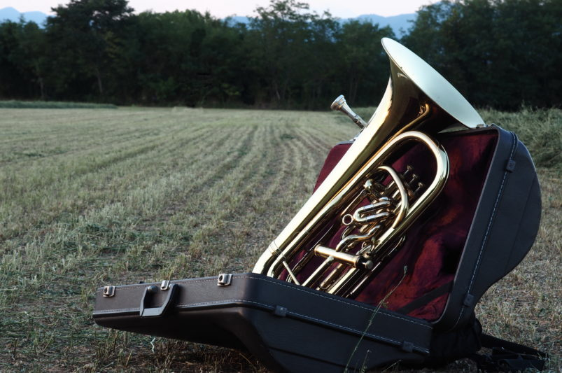 Euphonium in field