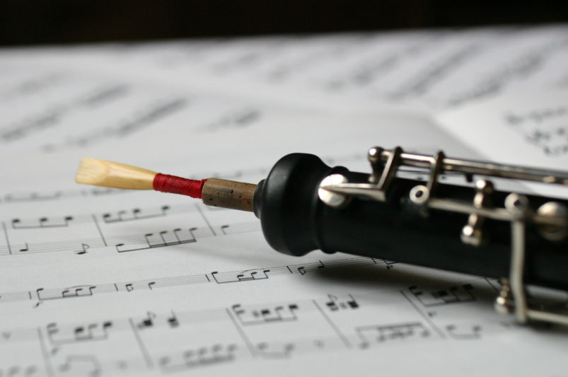 Oboe and music
